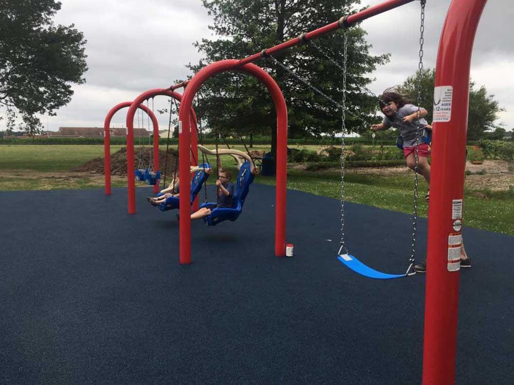 Swings at Homer Adam's Park