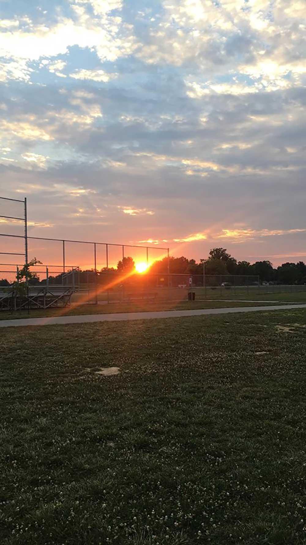 Sunset at Glazebrook Park