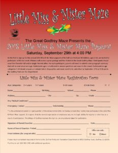 Little Miss and Mister Maze 2018 Flyer