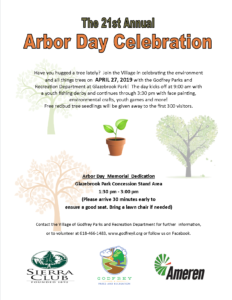 2019 Arbor Day Fishing Derby Flyer Front