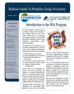 Madison County MS4 Newsletter